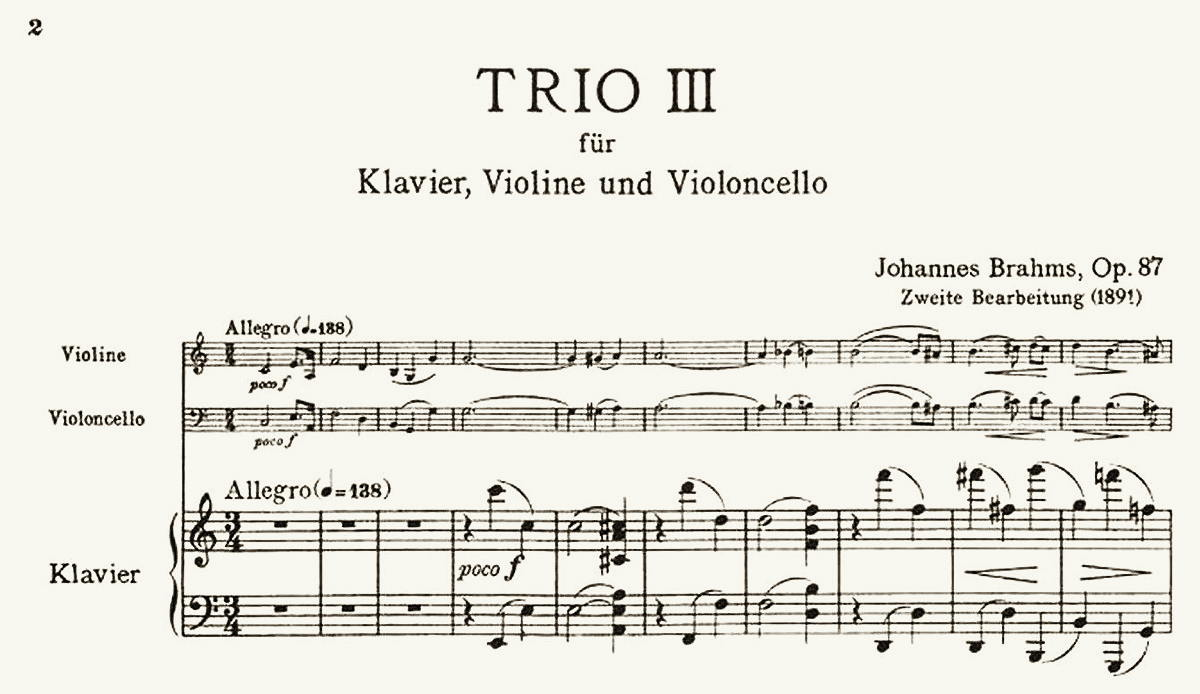 Version alert! Or: Did Brahms ever revise his Horn Trio