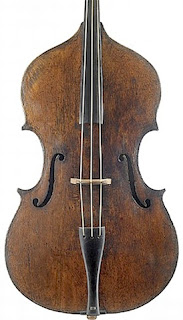 double bass with three strings