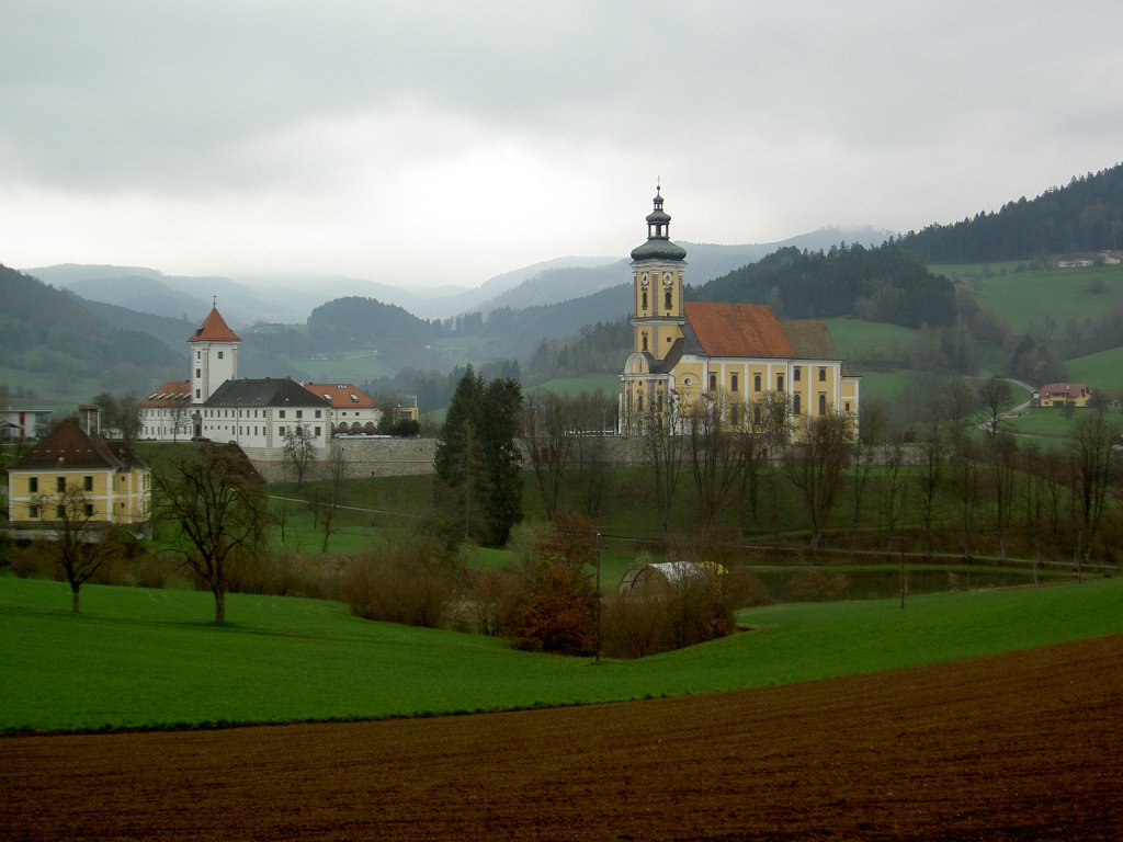Waldhausen, baroque Abbey Church Maria Himmelfahrt (Picture: Peter Reiser, Source: www.staedte-fotos.de)