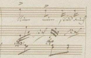 "Fig 2: Beethoven, ""An die Geliebte"" WoO 140 (2nd version), m. 22."
