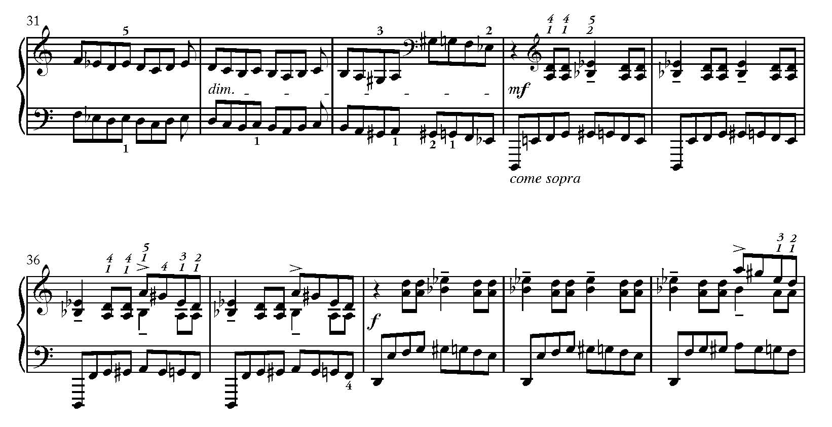 More or less – Bartók's well-regulated markings of his piano