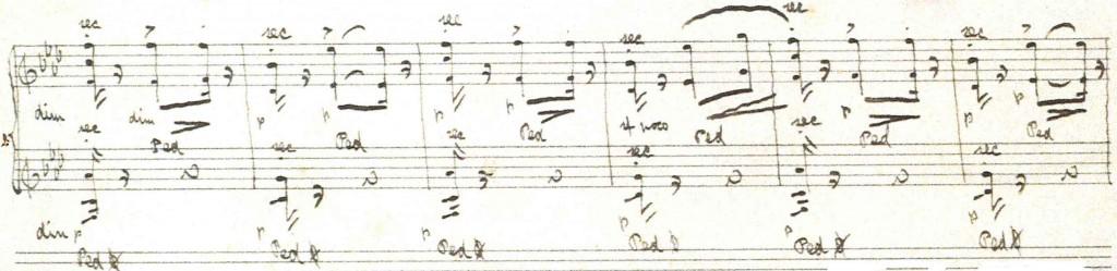 Ausschnitt aus dem Autograph von El Polo