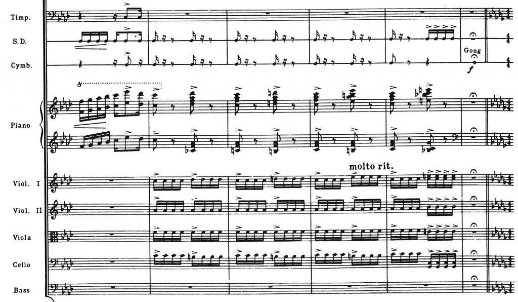 Gershwin Klavierkonzert, Partitur