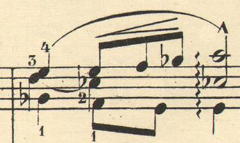 Druckausgabe 1875, Takt 12