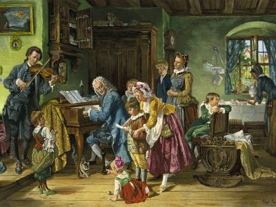 T. E. Rosenthal (1848–1917): J. S. Bach im Kreise seiner Familie, 1870 (Quelle: Wikimedia.org, Lizenz: PD).