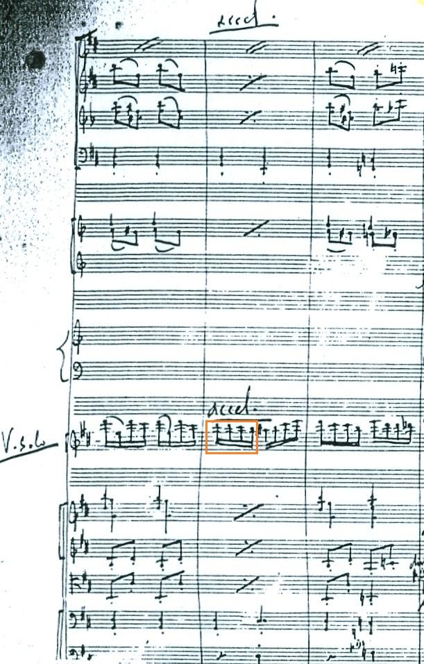 Abb. 2: Autograph der Orchesterfassung, Takte 330–333.