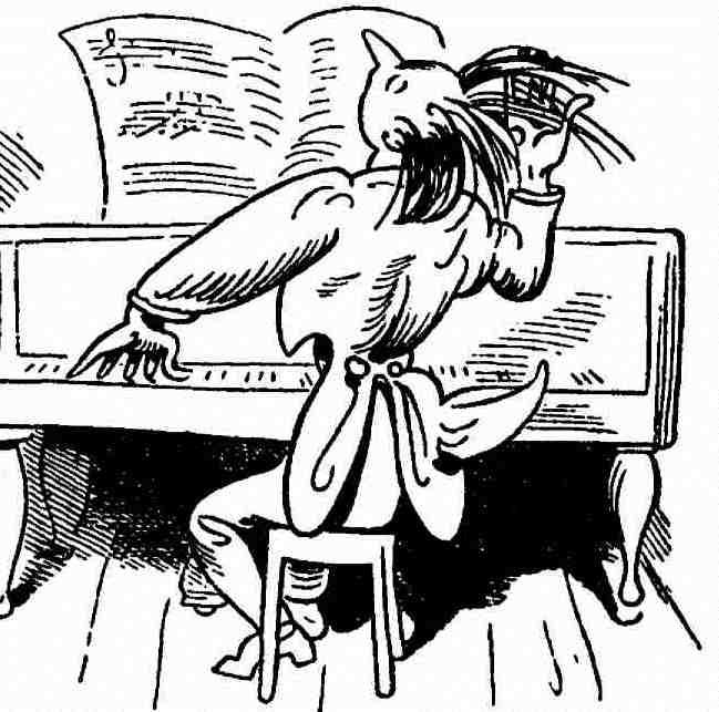 """Wilhelm Busch: """"Der Virtuos"""", 1865 (Quelle: Wikimedia.org, Lizenz: PD)"""