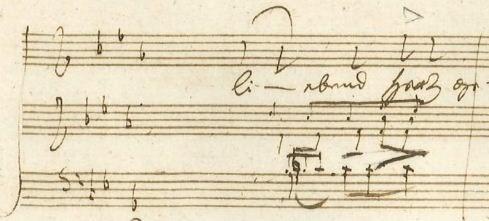 """Abb 1: Beethoven, """"An die ferne Geliebte"""" op. 98, T. 328."""
