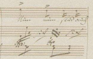 "Abb 2: Beethoven, ""An die Geliebte"" WoO 140 (2. Fassung), T. 22."