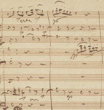"""Abb 4: Schubert, """"Oktett"""" D 803, 1. Satz, T. 32–33."""