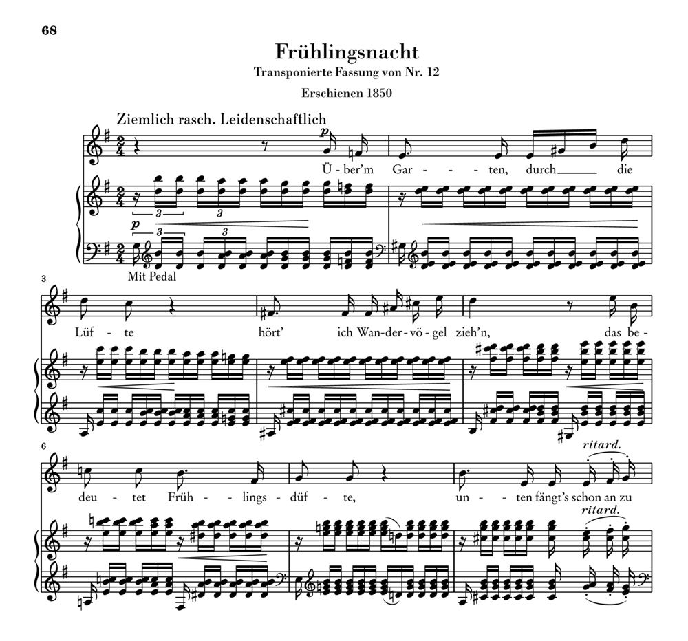 """""""Frühlingsnacht"""" G-dur"""