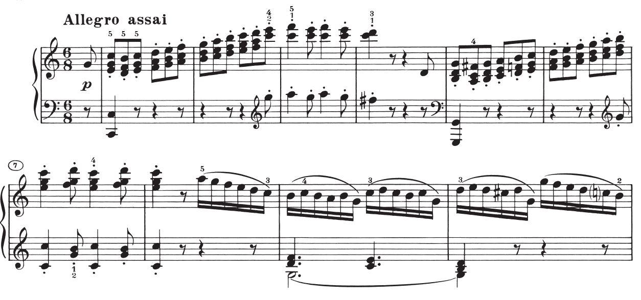 Sonate op. 2 Nr. 3, 4. Satz