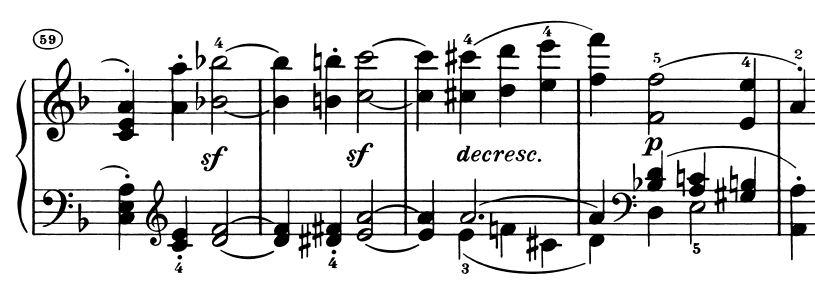 Sonate op. 31 Nr. 2, 1. Satz, Exposition