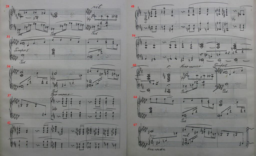 Abschrift 1, Nr. 3, frühere Fassung, T. 28 bis Ende // (Brünn, Mährisches Landesmuseum, Janàček -Archiv)