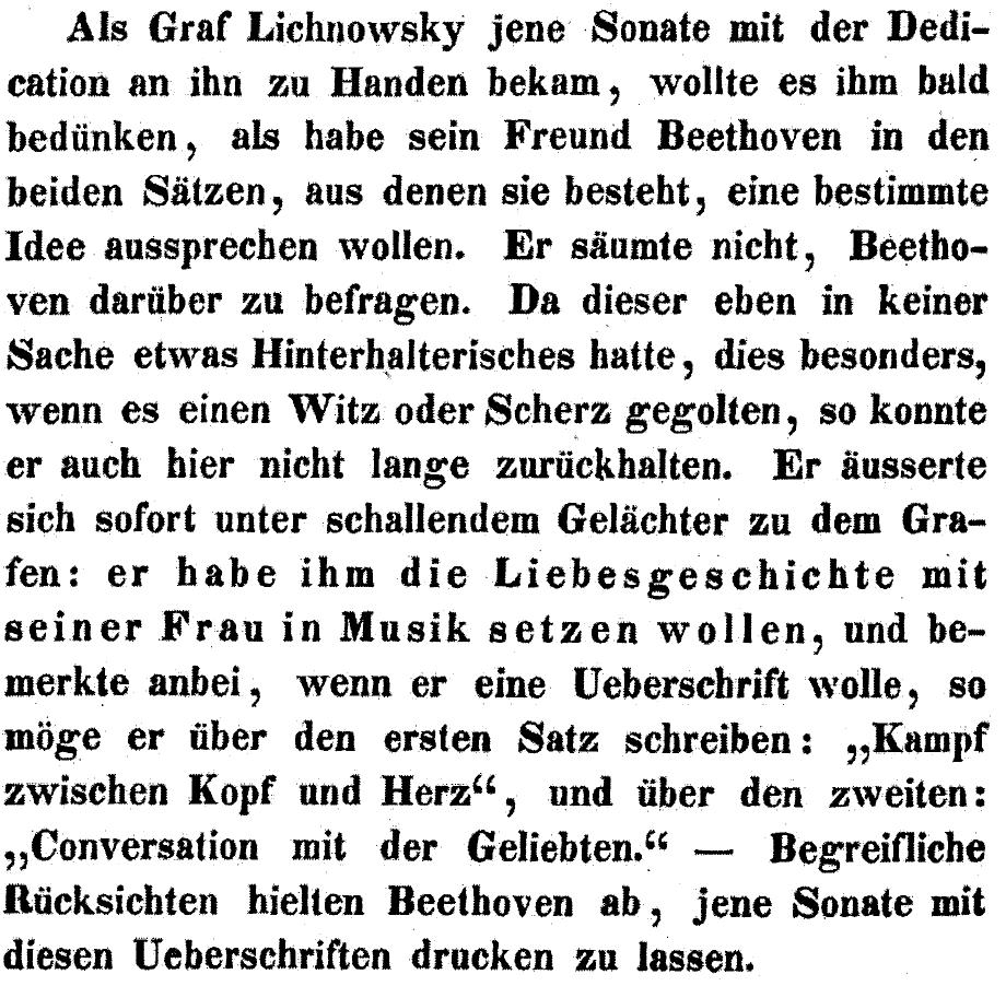 Aus Anton Schindlers sicher erfundener Entstehungsgeschichte zu op. 90
