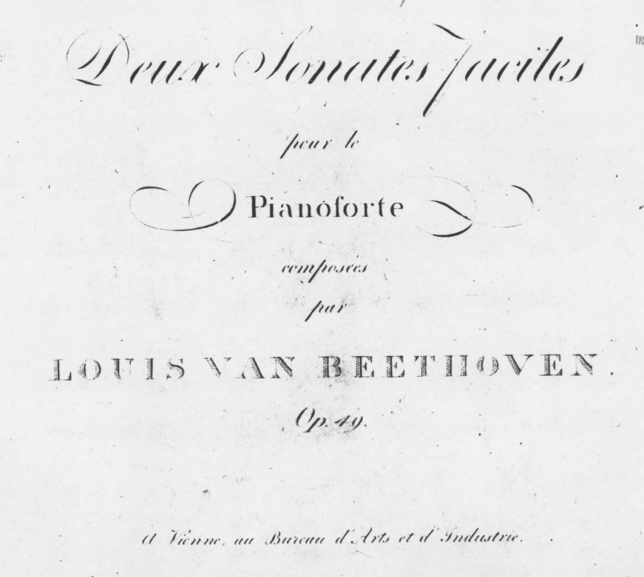 Original edition of Sonatas op. 49