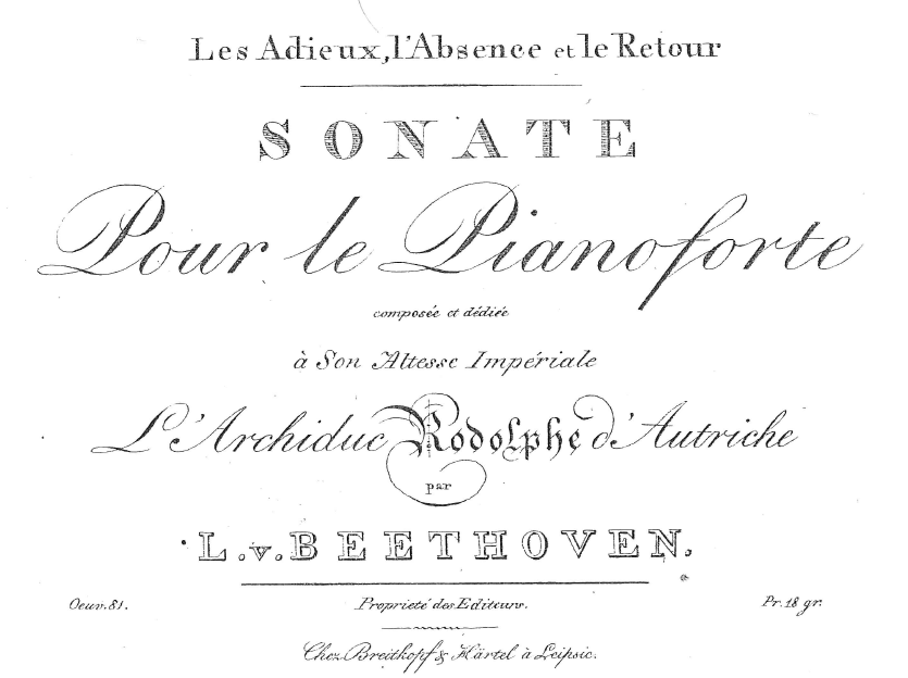 Original Edition of Sonata op. 81a