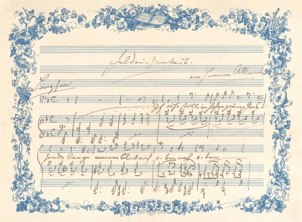 Brahms, Autograph Feldeinsamkeit