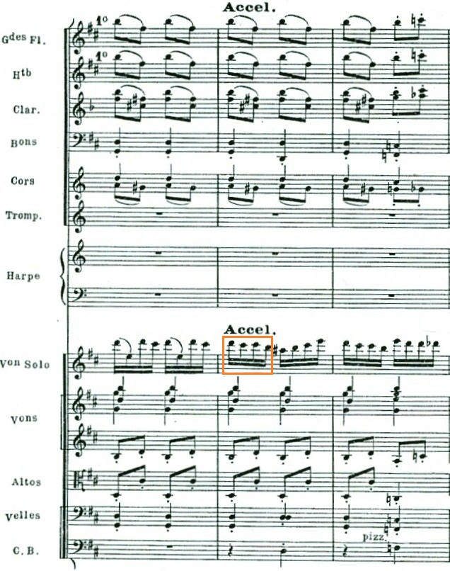 Fig. 3: Orchestral version, mm. 330–332.