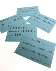 Cartes postales - citations musicales Beethoven anglais