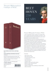 "Flyer Beethoven ""Catalogue of Works"""