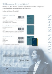 "Flyer ""Evgeny Kissin, the composer"""