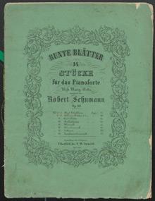Robert Schumann Bunte Blätter Cover Erstausgabe