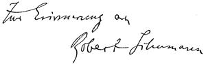 Schumann Signatur