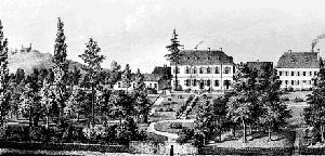Die Nervenheilanstalt in Endenich bei Bonn um 1850